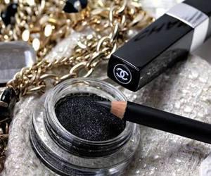 chanel, black, and makeup image