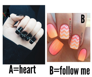 nails, heart, and follow me image