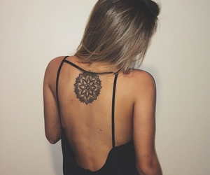 tattoo, dress, and mandala image