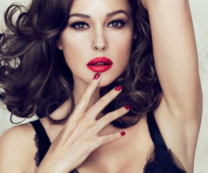 monica bellucci, sexy, and red image