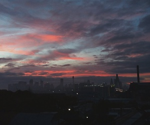 city, hipster, and sky image