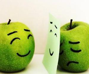 apple, sad, and happy image