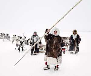 siberia and nomad tribe image