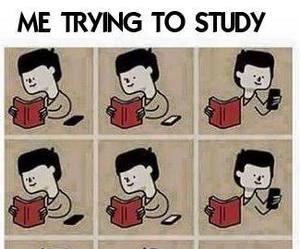 study, funny, and book image