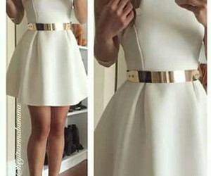 classy, white, and dress image