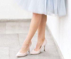 elegant, heels, and light blue image