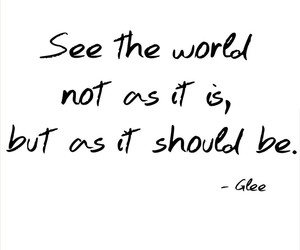 quote and glee image