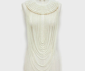 necklace, pearls, and statement necklace image