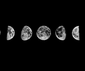 black and white, cool, and moon image