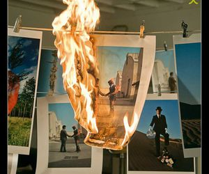 Pink Floyd, fire, and wish you were here image