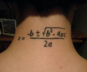 tattoo, math, and maths image