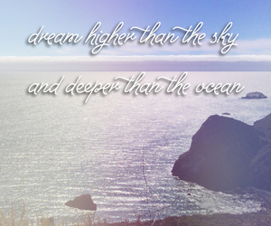 Dream, ocean, and sky image