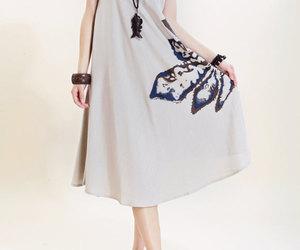 beige, dress, and linen image