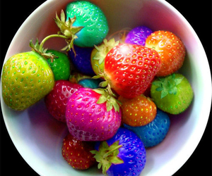 color and strawberries image
