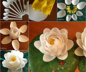 crafts, home decoration, and plastic spoon image