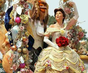 beauty and the beast, princess, and belle image