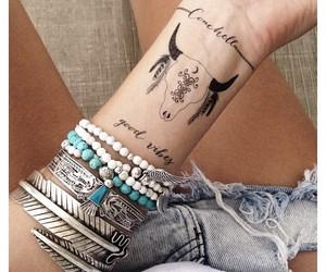 tattoo, boho, and bracelet image