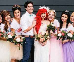 ariel, wedding, and thematic image