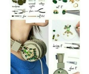 diy, headphones, and music image