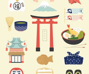 icons, japan, and illustration image