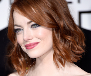 emma stone, pretty, and red hair image