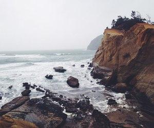 sea, nature, and rock image