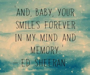 ed sheeran, Lyrics, and thinking out loud image