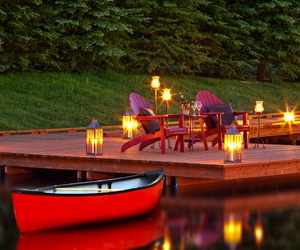 dock, landscape, and nature image