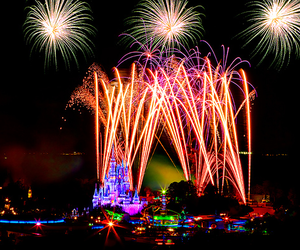 fireworks, mickey mouse, and Walt Disney World image