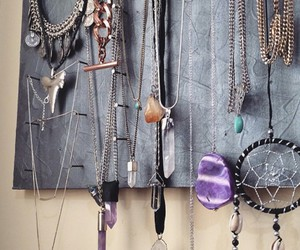 diy necklace holder and diy necklace display image