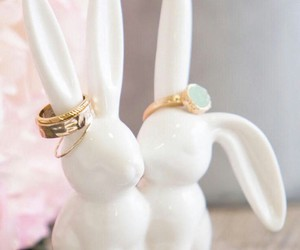 gold rings, ring display, and ring holder image