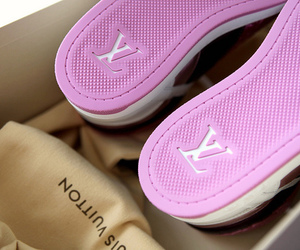 Louis Vuitton, shoes, and pink image