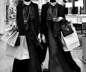 black, shopping, and witch image