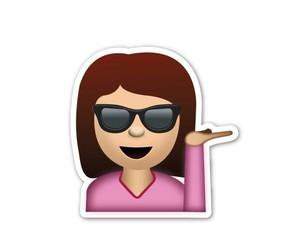 girl, smile, and emoji image