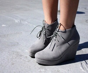 shoes, grey, and fashion image