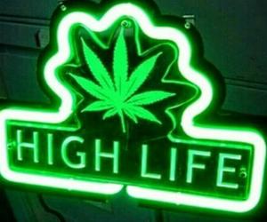 green, high life, and neon image