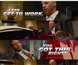 Vin Diesel, paul walker, and furious 7 image