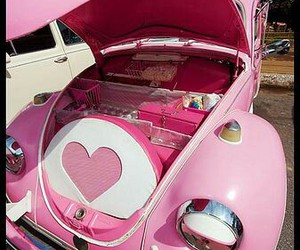 pink, car, and heart image