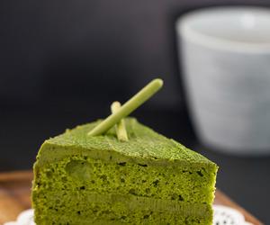 cake, Matcha, and white chocolate image