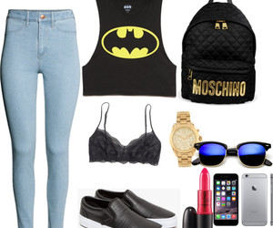 batman, clothes, and Moschino image