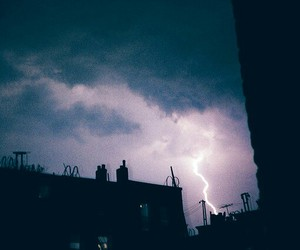 sky, lightning, and grunge image