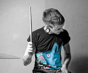 boy, drums, and tattoo image