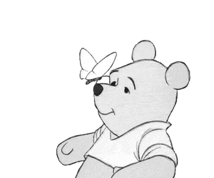 winnie the pooh, butterfly, and disney image
