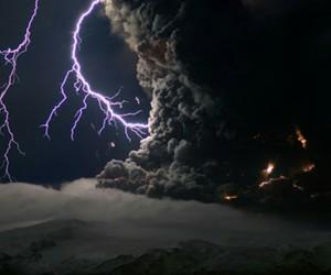2010, volcano, and lightning image