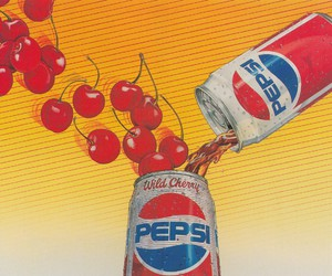 Pepsi and cherry image