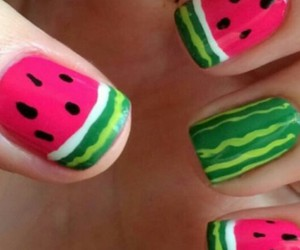 Nagel, nails, and watermelon image