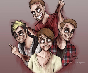 alex gaskarth, all time low, and bands image