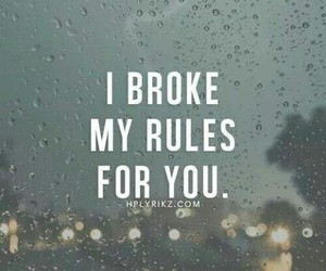 quotes, rules, and broke image