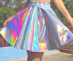 fashion, hologram, and skirt image