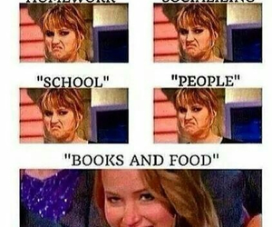 book, food, and funny image